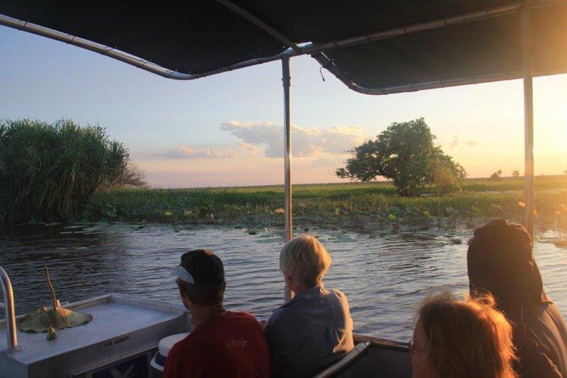 Our flat boat on Coroborree billabong