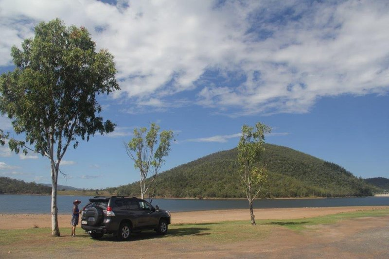 Rest stop at Wivenhoe Dam