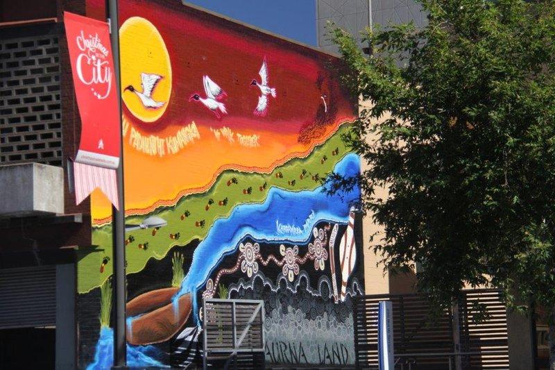 Street art in Rundle Mall (2)