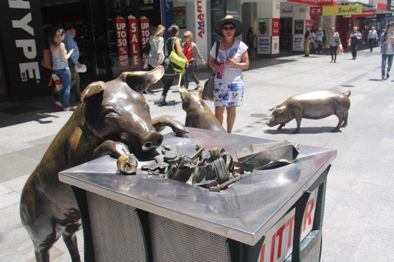 Street art in Rundle Mall