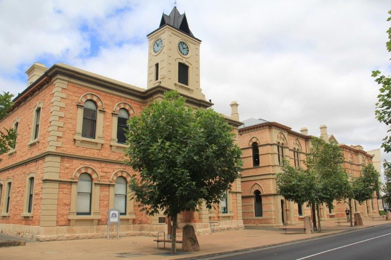 The Town Hall and Main Corner in Mt Gambier