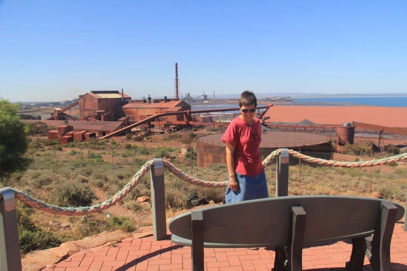 The viewpoint above the Onsesteel smelter