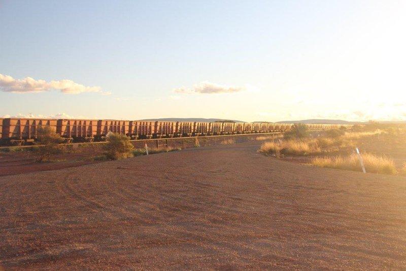 Three km long train makes you wait