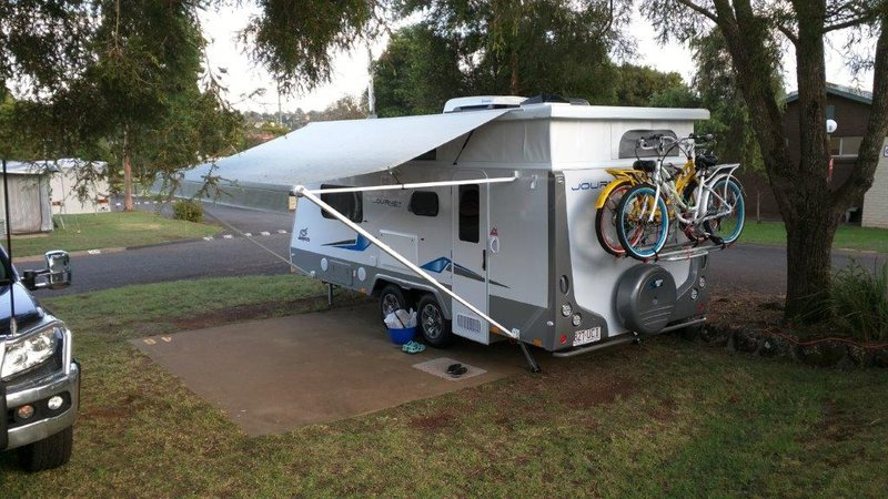 Toowomba departure - photo of bikes for Zac