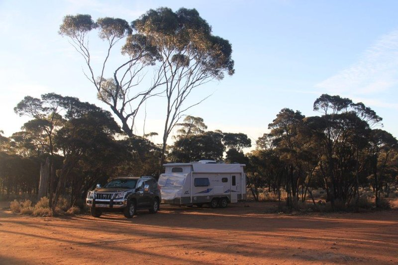 Typical free camp in the Nullarbor