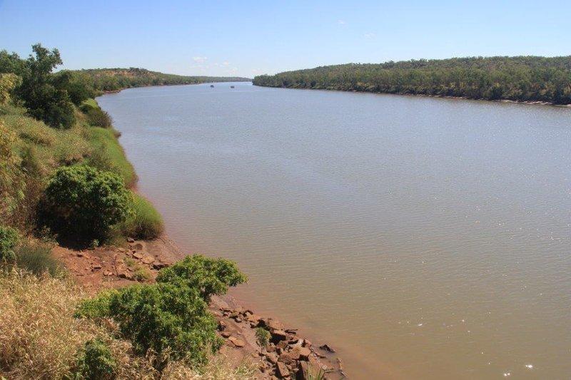 Victoria River is huge