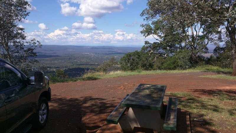 View from Katoomba lookout point in Toowoomba towards Brisbane