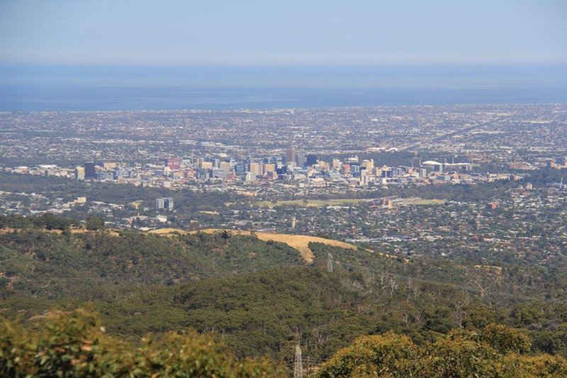 View of Adelaide from Mt Lofty 710m up