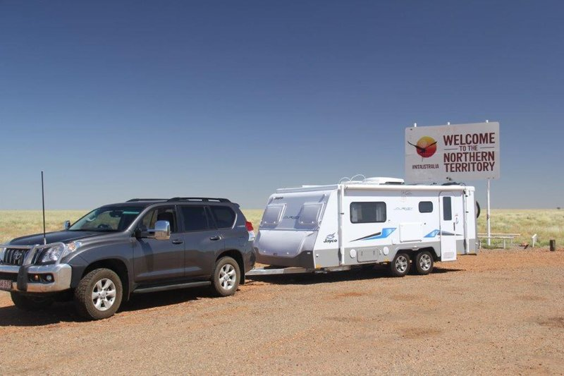 We go into the Northern Territory 4000km on