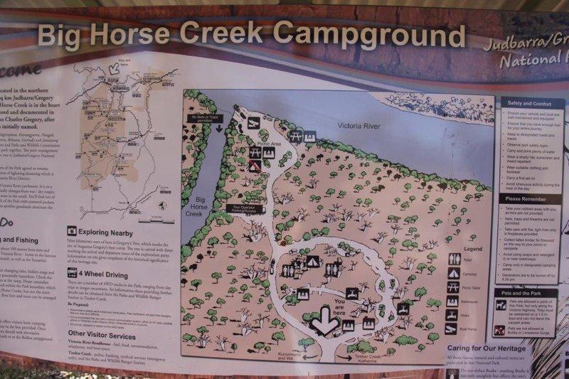 Where Big horse Creek meets Victoria River
