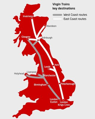 Rute Virgin Train