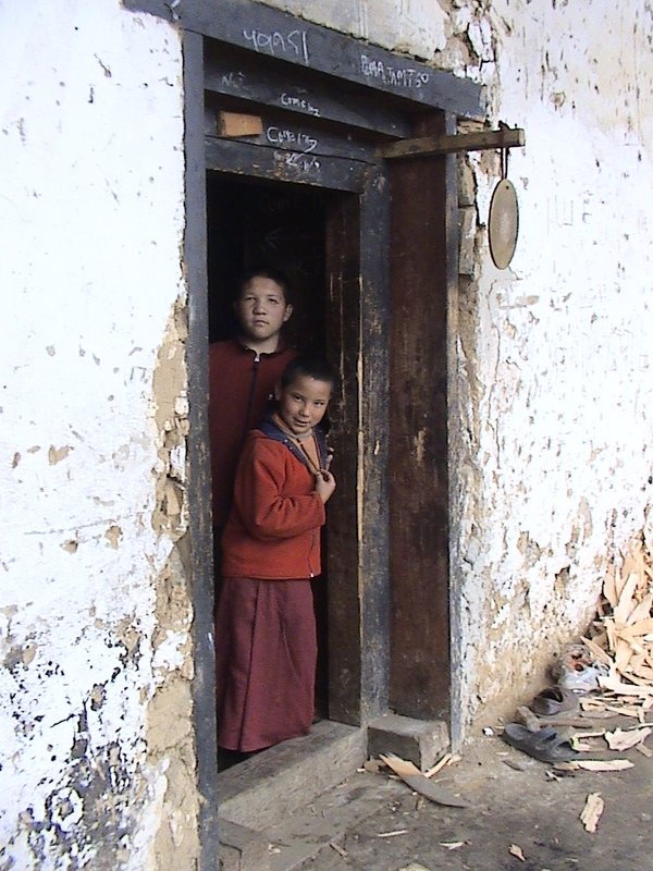 Monks in Gantey Goemba