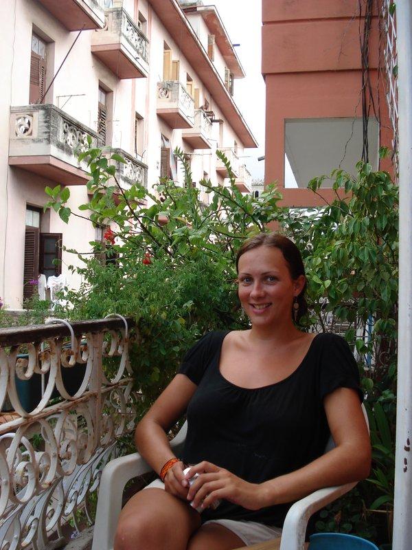 gill on balcony