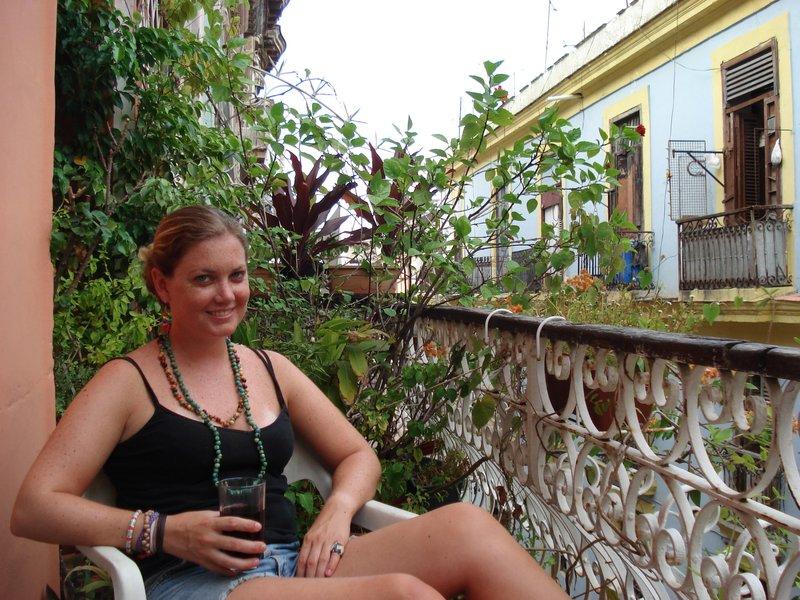 cuba libre on balcony