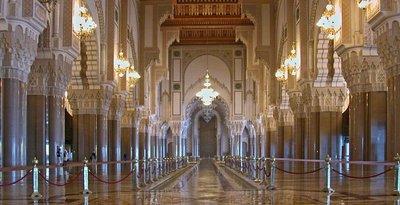 Interior of Hassan II Mosque