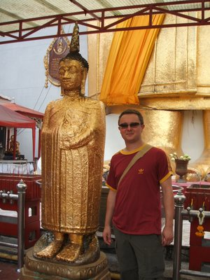 me and a gold buddha