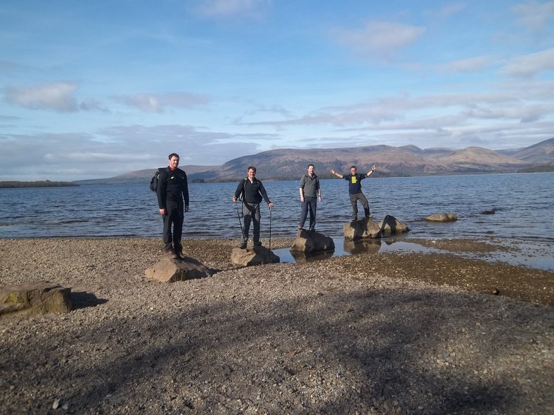 On the rocks at Loch Lomond