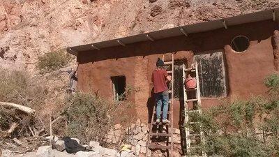 Finishing the outside walls