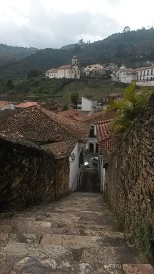 One of the many hills of Ouro Preto