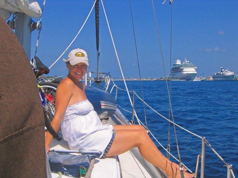 Entering Nassau Harbour