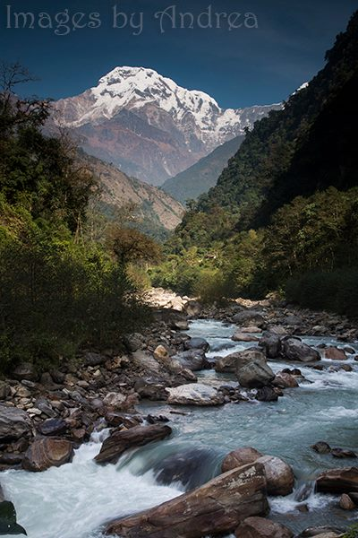 Annapurna South Beyond the River