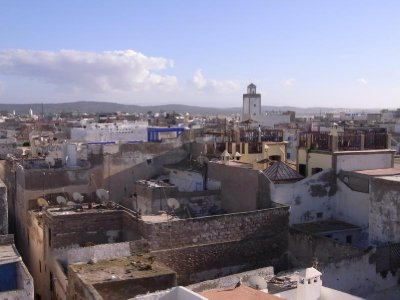 Essaouira - city view from roof terrace 2011