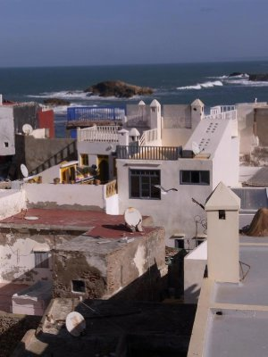 Essaouira - sea view from roof terrace 2011