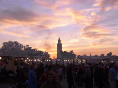 Marrakech - Jemaa el Fna square and Koutoubia tower 2011