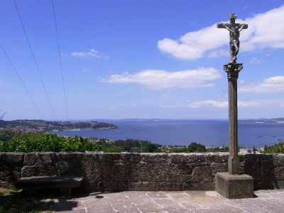 Bueu - view above the bay from chirch Santa Maria