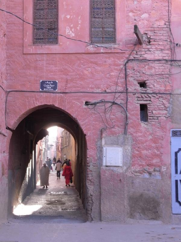 Marrakech - Old town lane 2011