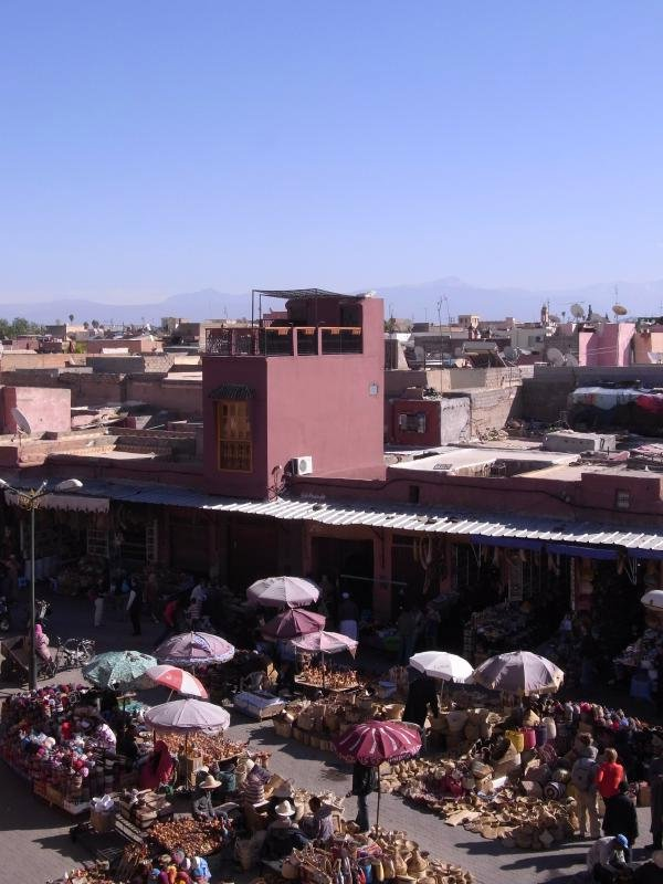 Marrakech - city market and Atlas mountains 2011