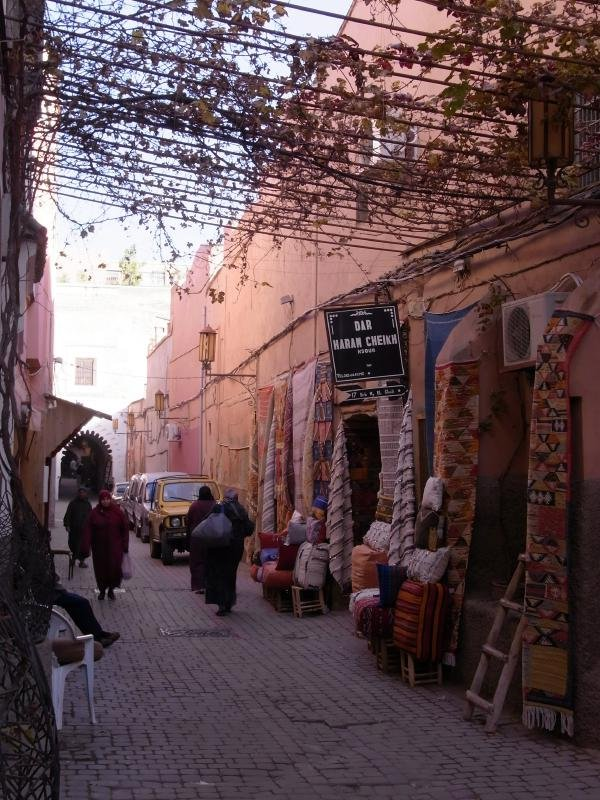 Marrakech - old town street 2011