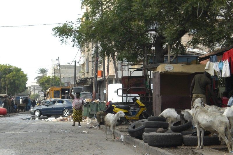 Dakar downtown market street - 2009