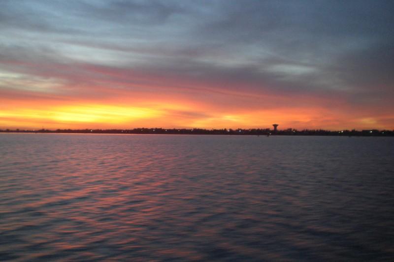 Senegal river - Sunrise above sengalise cost 2009