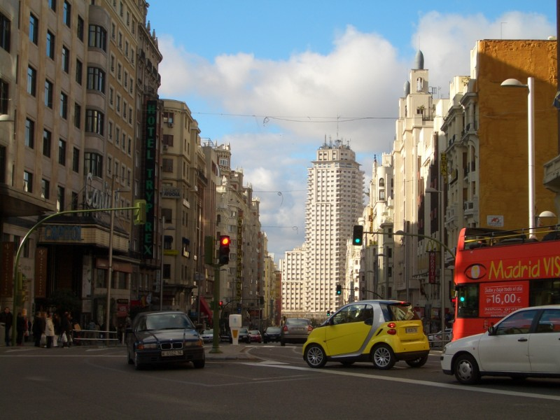 Madrid 2008 - Gran Via and Edificio Espana