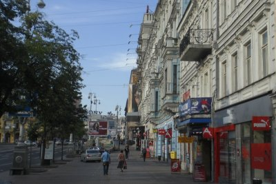 Kiev - downtown in the morning 2009