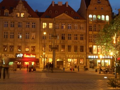 Wroclaw - town square at night 2006