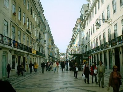 Lisbon 2003 - Downtown in Baixa