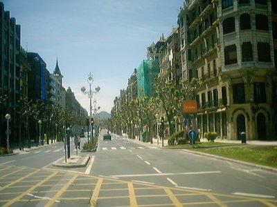 San Sebastían 2003 - Sunday empty street