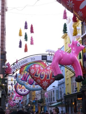 London Soho - Carnaby street christmas decoration 2010