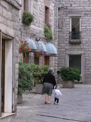 Going shopping in Tempio - 2010