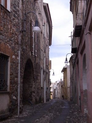 Old town street in Orosei - 2010