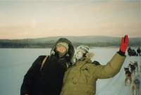 Lapland - sleding to the lake