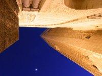 Casablanca - Mosque Hasan II at moonlight 2011