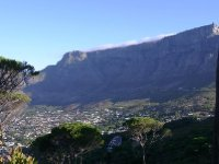 Cape Town - Table mountain with clouds 2013