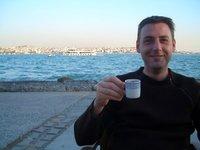 Istanbul 2007 - Having coffee in Karaköy
