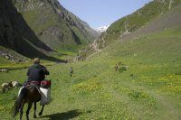 Caucasus hiking Xinaliq-Laza - plateau ride 2009