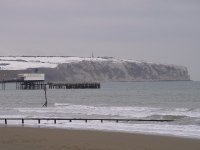 Isle of Wight - Sandown beach with pier 2010