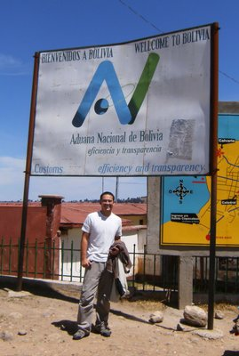 Steve at Bolivia - Peru Border