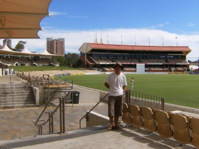 Steve at Adelaide Oval